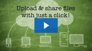 Graphic conceptualising sharing of files