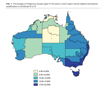 Indigenous People by Region Highest Educational Qualifications C3 or C4